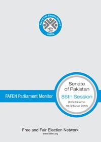 FAFEN Parliament Monitor Senate of Pakistan 86th Session Report 2012