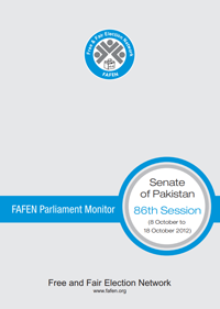 FAFEN Parliament Monitor Senate of Pakistan 86th Session Report 2012