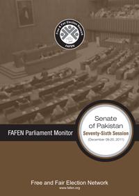 FAFEN Parliament Monitor Senate of Pakistan 76th Session Report