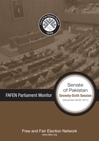 FAFEN Parliament Monitor Senate of Pakistan 76th Session Report