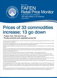 Price of 33 Commodities Increase; 13 Go Down
