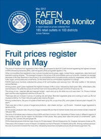 Fruit Prices Register Hike in May