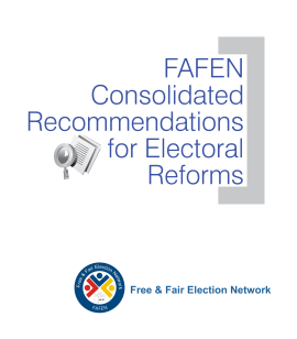 FAFEN Recommendations for Electoral Reforms (English Version)