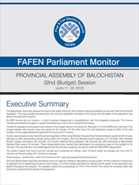 FAFEN Parliament Monitor Provincial Assembly of Balochistan 32nd Session Report