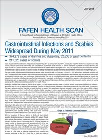 Gastrointestinal Infections and Scabies Widespread During May 2011