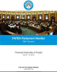 FAFEN Parliament Monitor Provincial Assembly of Punjab 39th Session Report