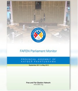 FAFEN Parliament Monitor Provincial Assembly of Khyber Pakhtunkhwa Annual Report 2011-2012