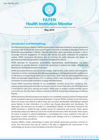 A Report based on monitoring of 110 Basic Health Units across Pakistan in April 2010