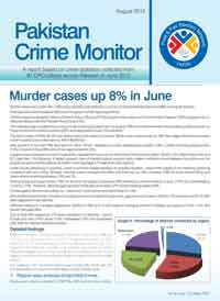 Murder Cases Up 8% in June