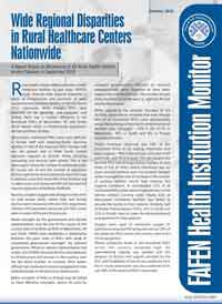 Nationwide Wide Regional Disparities in Rural Healthcare Centers