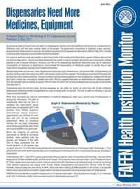 Dispensaries Need More Medicines, Equipment