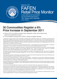 30 Commodities Register a 6% Price Increase in September, 2011