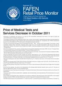 Price of Medical Tests and Services Decrease in October 2011