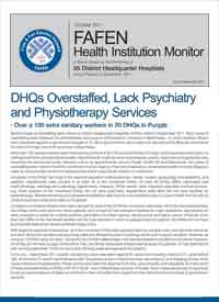 DHQs Overstaffed, Lack Psychiatry and Physiotherapy Services