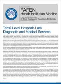 Tehsil Level Hospitals Lack Diagnostic and Medical Services