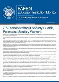 70% Schools without Security Guards, Peons and Sanitary Workers