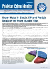 Urban Hubs in Sindh, KP and Punjab Register the Most Murder FIRs
