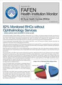 82% Monitored RHCs without Ophthalmology Services