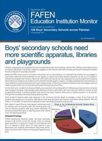 Boys Secondary Schools need more Scientific Apparatus, Libraries and Playgrounds