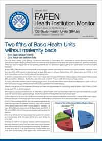 Two-fifths of Basic Health Units Without Maternity Beds