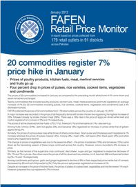 20 Commodities Register 7% Price Hike in January