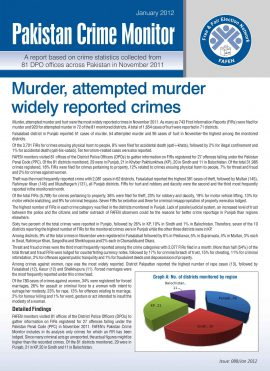 Murder, Attempted Murder Widely Reported Crimes