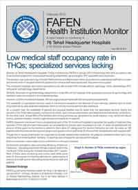 Low Medical Staff Occupancy Rate in THQs; Specialized Services Lacking