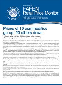 Price of 19 Commodities Go Up; 20 Others Down