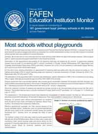 Most Schools in 85 Districts Without Playgrounds