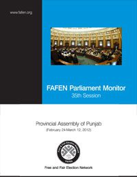 FAFEN Parliament Monitor Provincial Assembly of Punjab 35th Session Report
