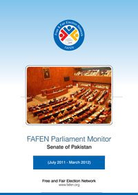 FAFEN Parliament Monitor Senate of Pakistan Annual Report 2011-2012