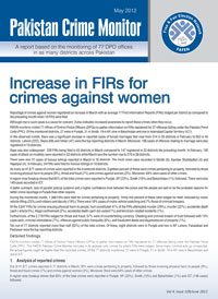 Increase in FIRs for crimes against women