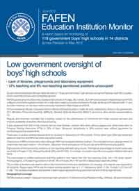Low Government Oversight of Boys High Schools