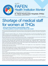 Shortage of Medical Staff for Women at THQs