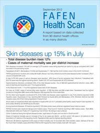 Skin Diseases Up 15% in July