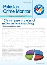 15% Increase in Cases of Motor Vehicle Snatching