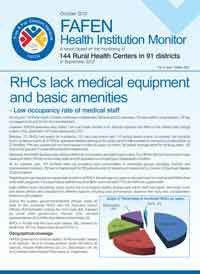RHCs Lack Medical Equipment and Basic Amenities