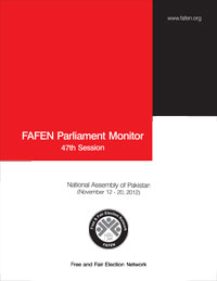 FAFEN Parliament Monitor National Assembly of Pakistan 47th Session Report