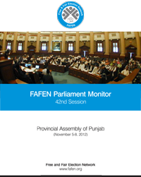 FAFEN Parliament Monitor Provincial Assembly of Punjab 42nd Session Report