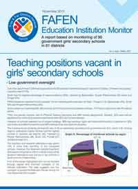 Teaching Positions Vacant in Girls' Secondary Schools