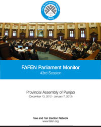FAFEN Parliament Monitor Provincial Assembly of Punjab 43rd Session Report