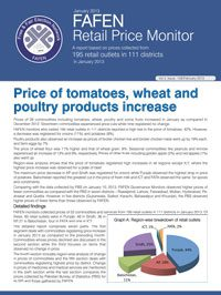 Price of Tomatoes, Wheat and Poultry Products Increase