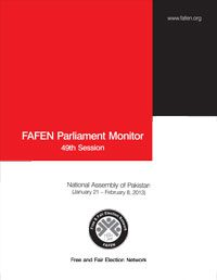 FAFEN Parliament Monitor National Assembly of Pakistan 49th Session Report