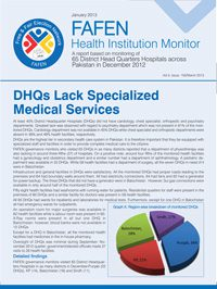 DHQs Lack Specialized Medical Services