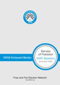 FAFEN Parliament Monitor Senate of Pakistan 95th (Budget) Session Report 2013