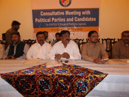 FAFEN's Consultative Meeting with Regional Political Parties for Electoral Reforms Held in Hyderabad