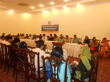Regional Conference with Stakeholder on FAFEN's Electoral Reforms at Hyderabad.
