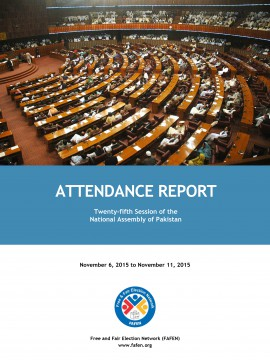 National Assembly 25th Session Attendance Report Card