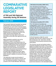 Comparative Legislative Report of 13th and 14th National Assembly during 28 Sessions