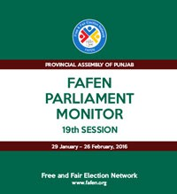 FAFEN Parliament Monitor Provincial Assembly of Punjab 19th